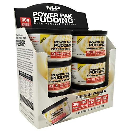 MHP Power Pak Pudding - French Vanilla - 6 ea