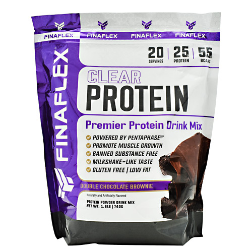 Finaflex Clear Protein - Double Chocolate Brownie - 20 ea