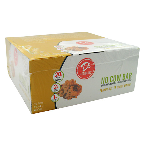Ds Naturals No Cow Bar - Peanut Butter Chocolate Chip - 12 ea