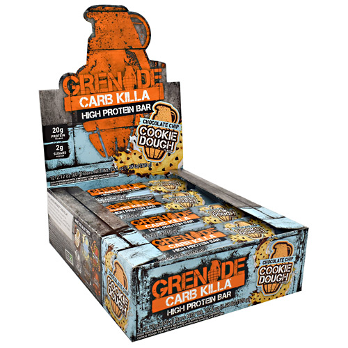 Grenade Carb Killa - Chocolate Chip Cookie Dough - 12 ea