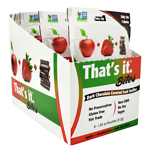 Thats It Nutrition Thats it Bites - Strawberry - 6 ea