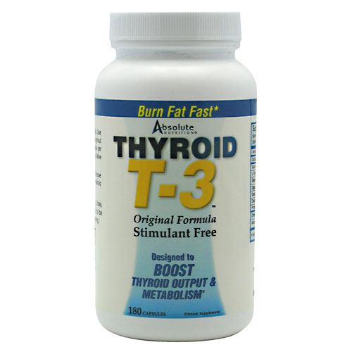 Absolute Nutrition Thyroid T3 - 180 ea