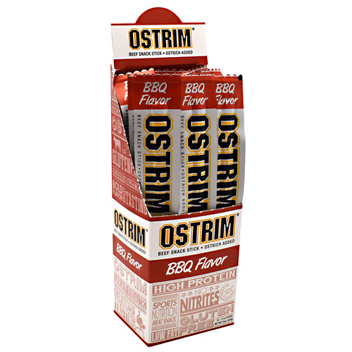 Ostrim Beef & Ostrich Snack - Barbeque - 10 ea
