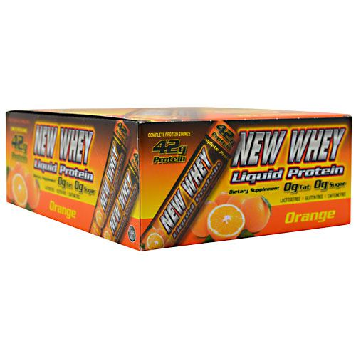 New Whey Nutrition New Whey Liquid Protein - Orange - 12 ea