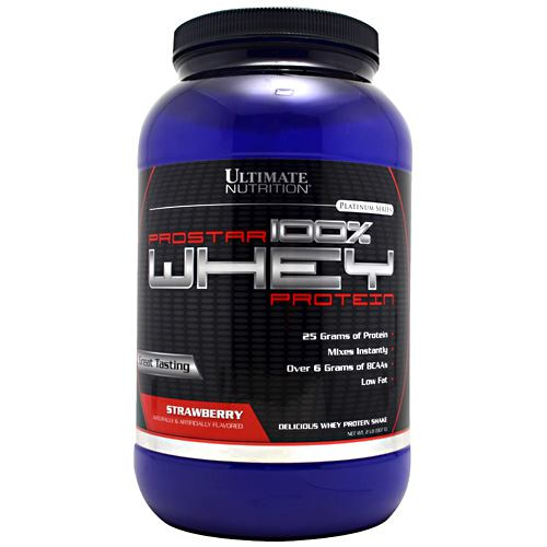 Ultimate Nutrition ProStar Whey Protein - Strawberry - 2 lb