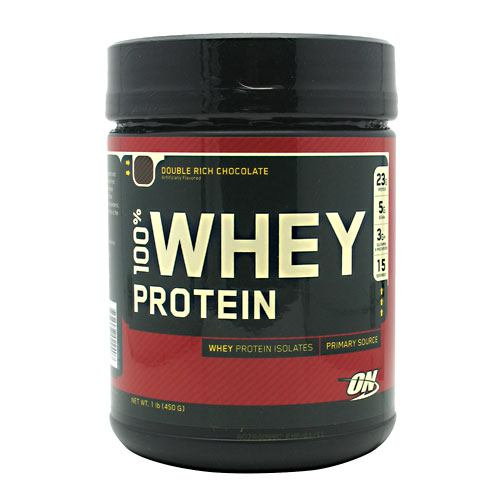 Optimum Nutrition 100% Whey Protein - Double Rich Chocolate - 1 lb