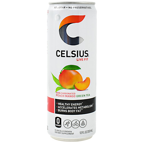 Celsius Celsius - Peach Mango Green Tea - 12 ea
