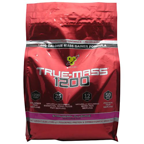 BSN True Mass 1200 - Strawberry Milkshake - 10.25 lb
