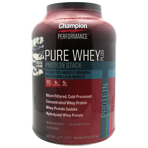 Champion Nutrition Pure Whey Plus - Cookies & Cream - 4.8 lb