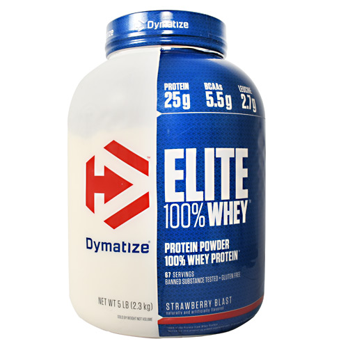 Dymatize Elite 100% Whey Protein - Strawberry Blast - 5 lb