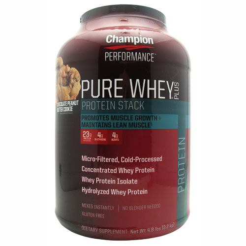 Champion Nutrition Pure Whey Plus - Chocolate Peanut Butter Cookie - 4.8 lb
