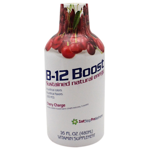 1st Step for Energy B-12 Boost - Cherry Charge - 16 oz
