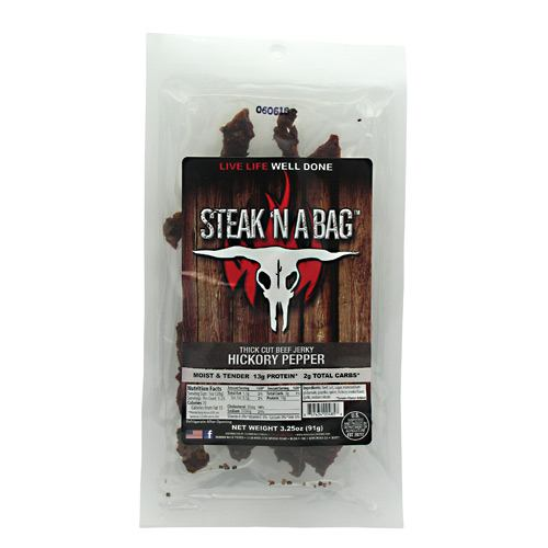 Runnin Wild Foods Steak N A Bag Thick Cut - Hickory Pepper - 3.25 oz