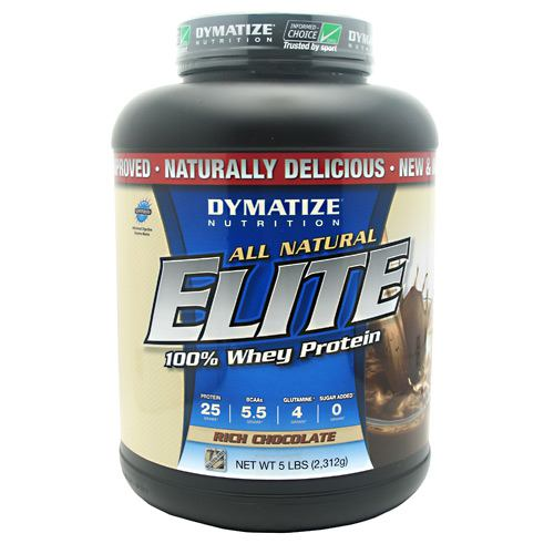 Dymatize All Natural Elite Whey Protein Isolate - Rich Chocolate - 5 lb