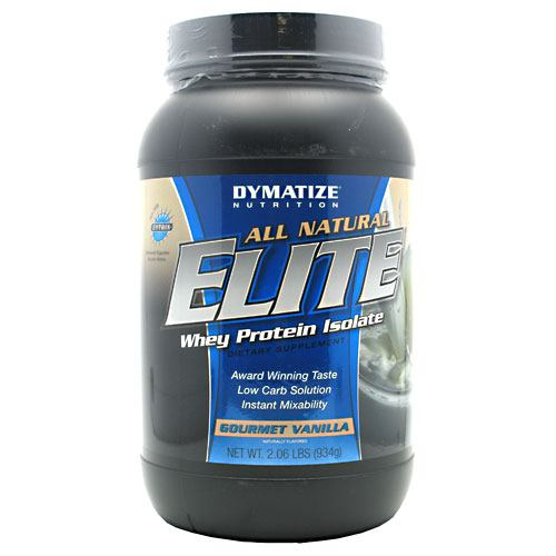 Dymatize All Natural Elite Whey Protein Isolate - Gourmet Vanilla - 2 lb