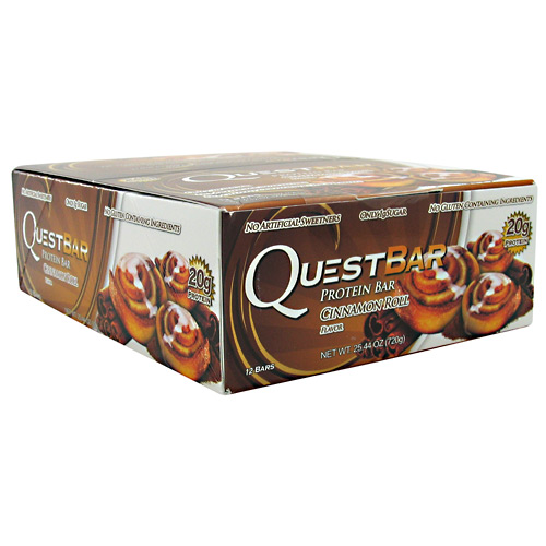 Quest Nutrition Quest Natural Protein Bar - Cinnamon Roll - 12 ea