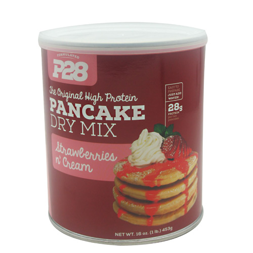 P28 Foods The Original High Protein Pancake Dry Mix - Strawberries N' Cream - 16 oz