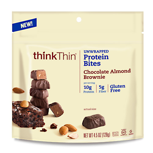 Think Products Think Thin Bites - Chocolate Almond Brownie - 4.5 oz