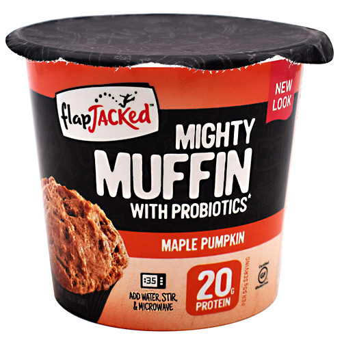 FlapJacked Mighty Muffin - Maple Pumpkin - 12 ea