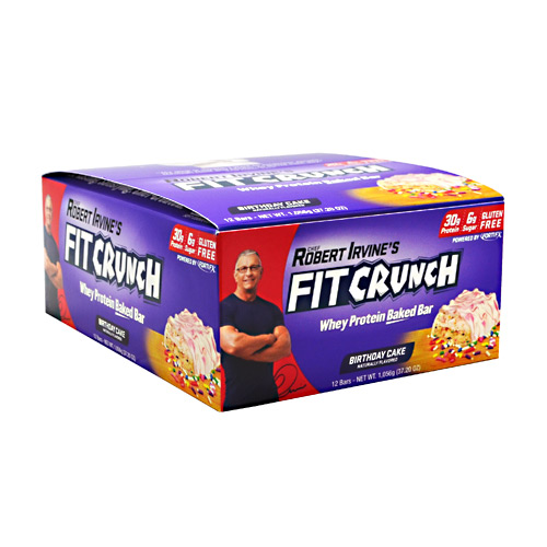 Fit Crunch Bars Fit Crunch Bar - Birthday Cake - 12 ea