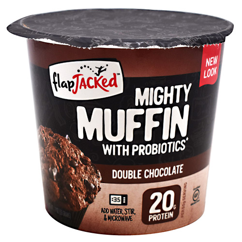 FlapJacked Mighty Muffin - Double Chocolate - 12 ea