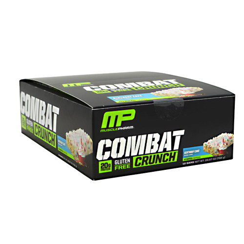Muscle Pharm Hybrid Series Combat Crunch - Birthday Cake - 12 ea