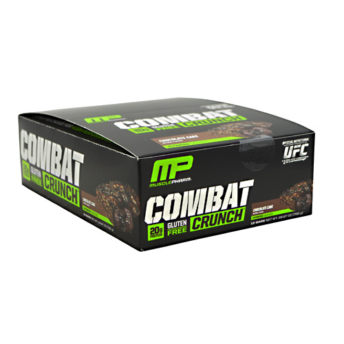 Muscle Pharm Hybrid Series Combat Crunch - Chocolate Cake - 12 ea
