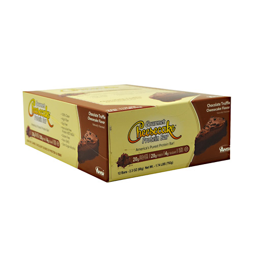 Advanced Nutrient Science INTL Gourmet Cheesecake Protein Bar - Chocolate Cheesecake Flavor - 12 ea