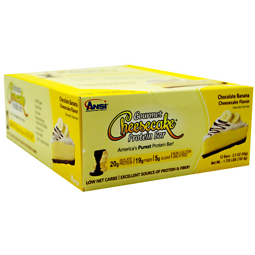 Advanced Nutrient Science INTL Gourmet Cheesecake Protein Bar - Chocolate Banana - 12 ea