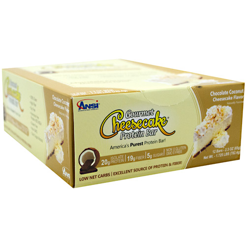 Advanced Nutrient Science INTL Gourmet Cheesecake Protein Bar - Chocolate Coconut Cheesecake - 12 ea