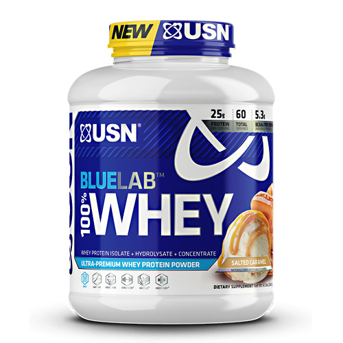 USN Blue Lab 100% Whey - Salted Caramel - 4.5 lb