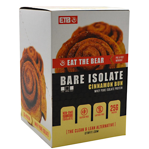 Eat The Bear Bare Isolate - Cinnamon Bun - 10 ea