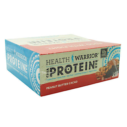 Health Warrior Chia Protein Bar - Peanut Butter Cacao - 12 ea