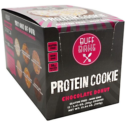 Buff Bake Protein Cookie - Chocolate Donut - 12 ea