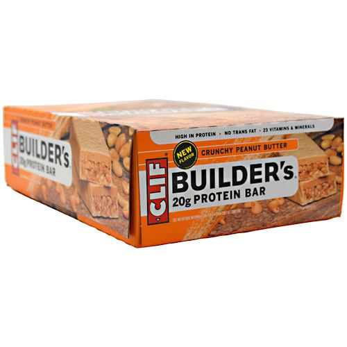 Clif Builders Protein Bar - Crunchy Peanut Butter - 12 ea