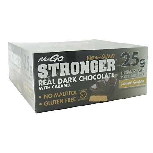 NuGo Nutrition NuGo Stronger - Dark Chocolate With Caramel - 12 ea