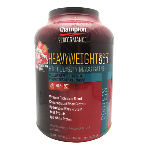 Champion Nutrition Heavyweight Gainer 900 - Strawberry Shake - 7 lb