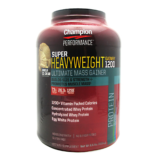 Champion Nutrition Super Heavyweight Gainer 1200 - Double Vanilla Cream Shake - 6.6 lb