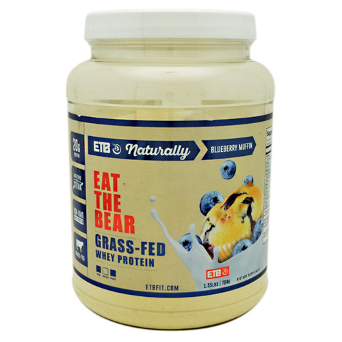 Eat The Bear Naturally Whey Protein - Naturally Blueberry Muffin - 1.55 lb