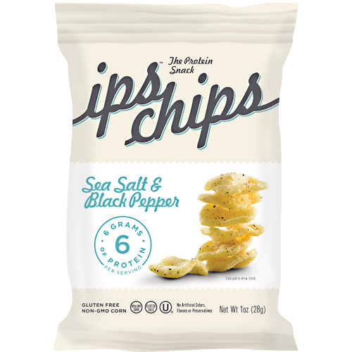 ips All Natural The Protein Snack ips chips - Sea Salt & Black Pepper - 24 ea