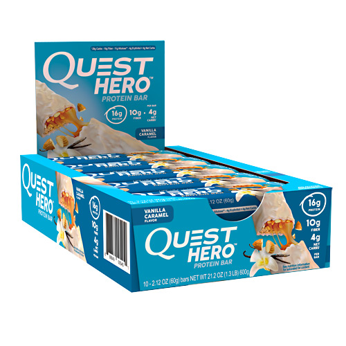 Quest Nutrition Hero Bar - Vanilla Caramel - 10 ea