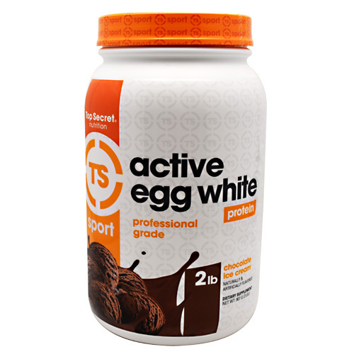 Top Secret Nutrition Sport Active Egg White - Chocolate Ice Cream - 27 ea
