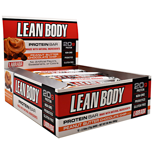 Labrada Nutrition Lean Body Protein Bar - Peanut Butter Chocolate Chip - 12 ea