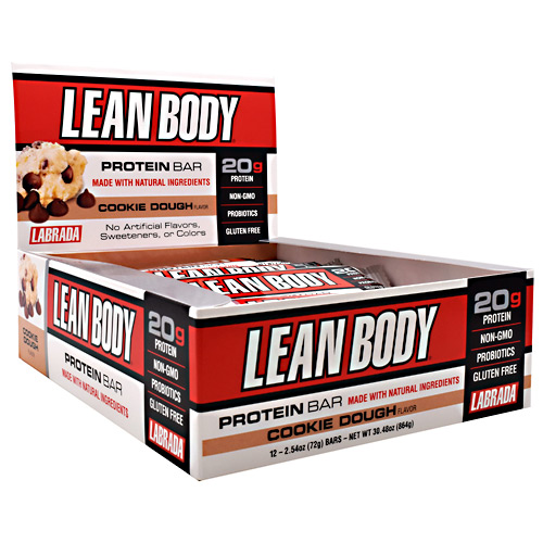 Labrada Nutrition Lean Body Protein Bar - Cookie Dough - 12 ea