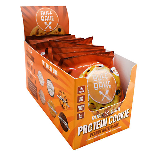 Buff Bake Protein Cookie - Peanut Butter Cup - 12 ea