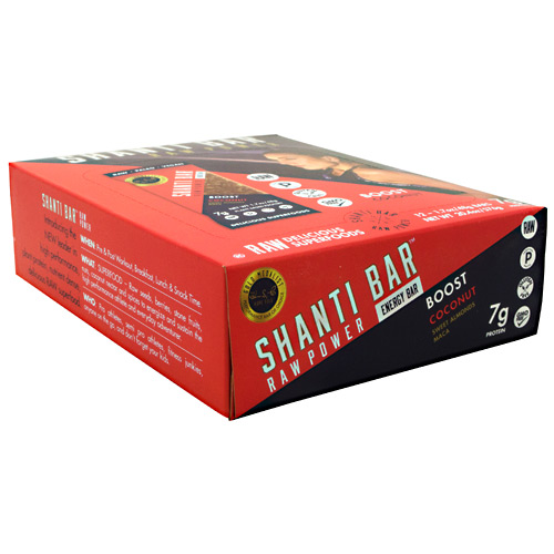 Shanti Bar Raw Power Protein Bar - Coconut - 12 ea