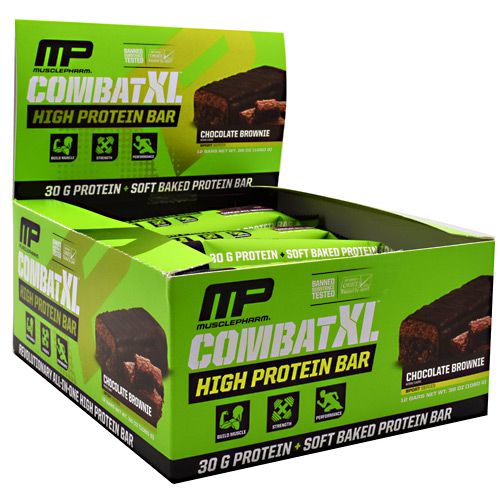 MusclePharm Combat XL - Chocolate Brownie - 12 ea