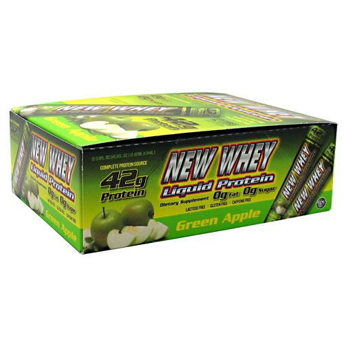 IDS New Whey Liquid Protein - Green Apple - 12 ea