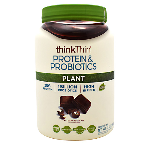 Think Products Plant Protein & Probiotics - Belgian Chocolate - 22 ea