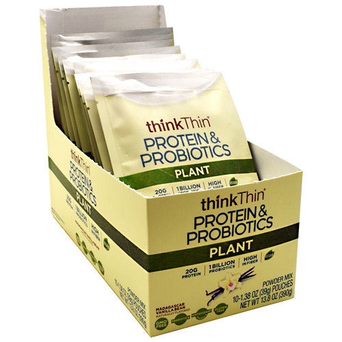 Think Products Plant Protein & Probiotics - Madagascar Vanilla Bean - 10 ea